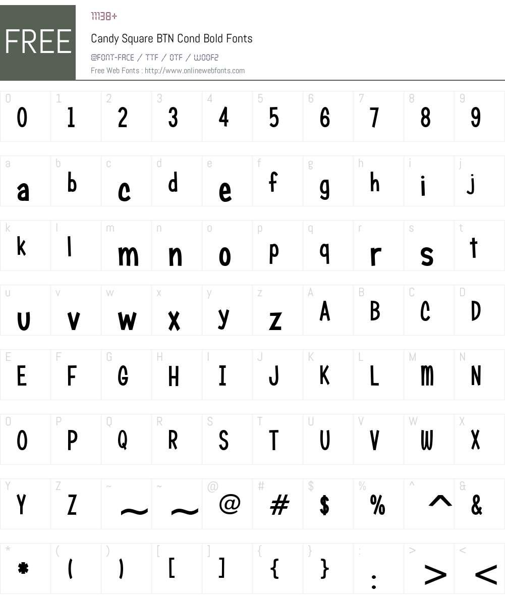 Candy Square BTN Cond Font Screenshots