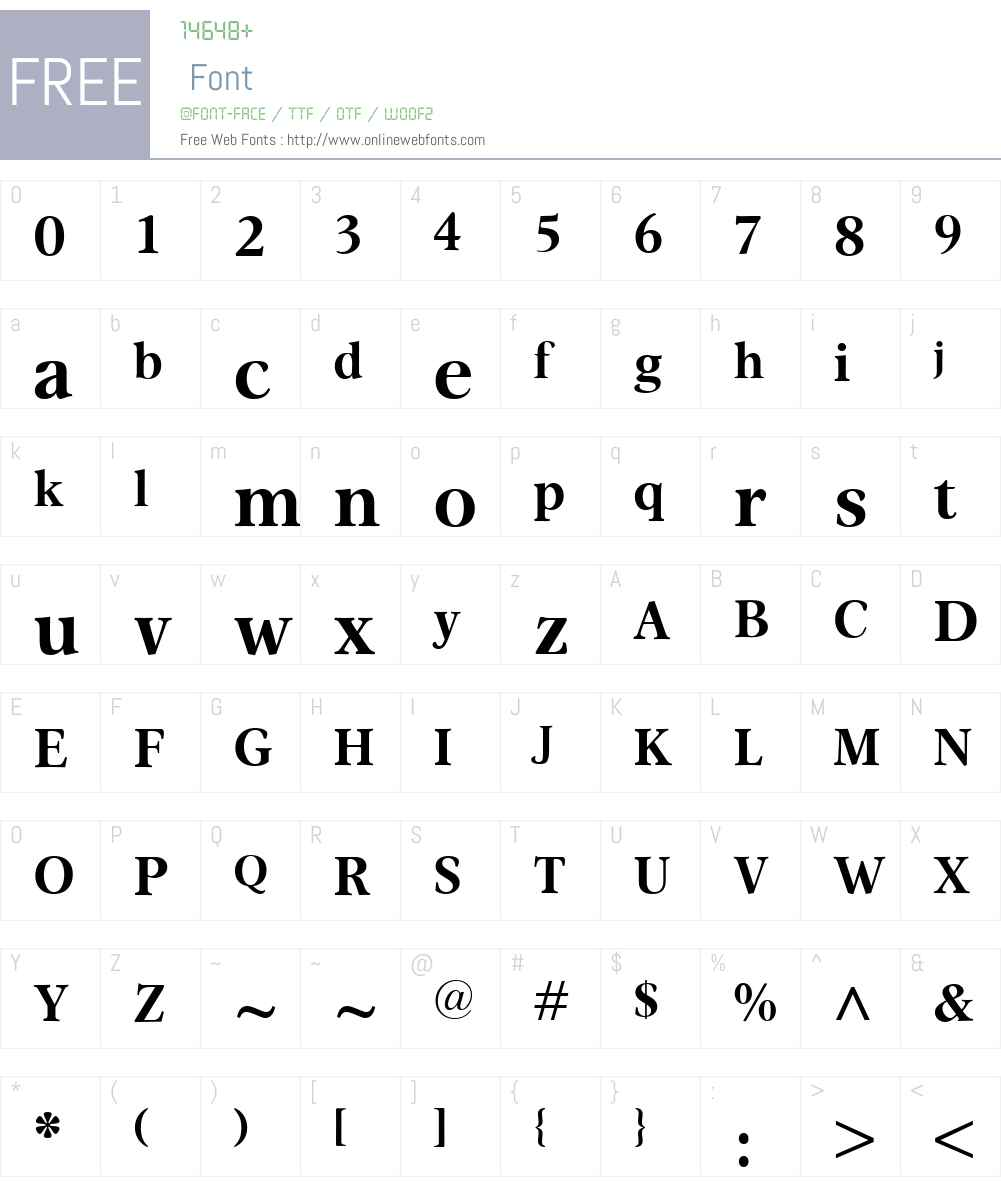 OmnibusW00-Bold Font Screenshots