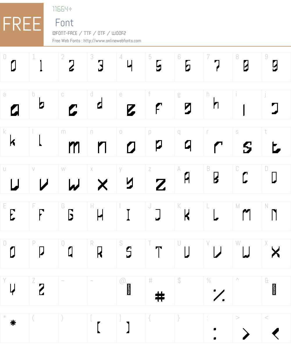 Mechasystem Font Screenshots