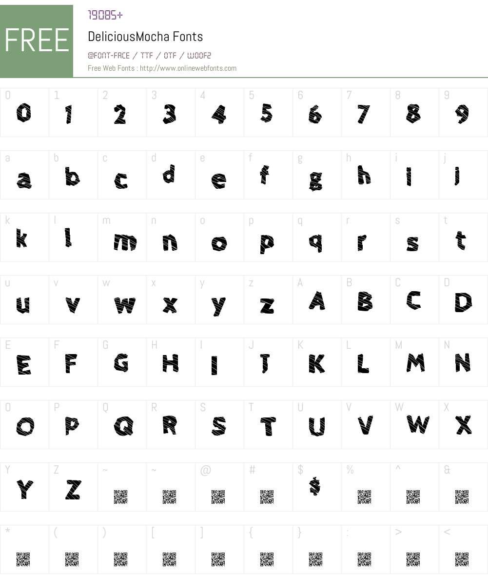 DeliciousMocha Font Screenshots