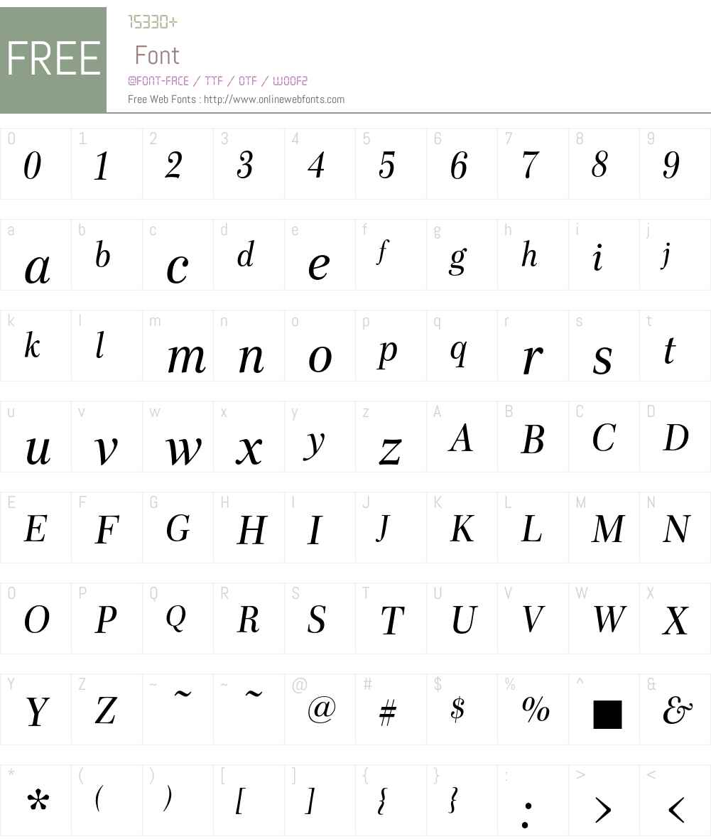 Scotch Font Screenshots