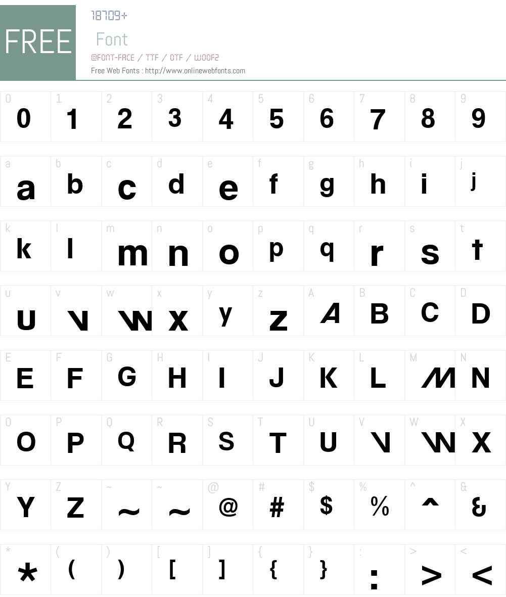MovatifW00-Bold Font Screenshots