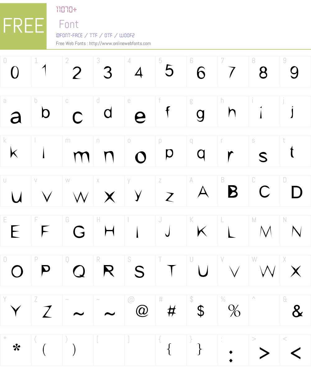 kishore-sharp Font Screenshots