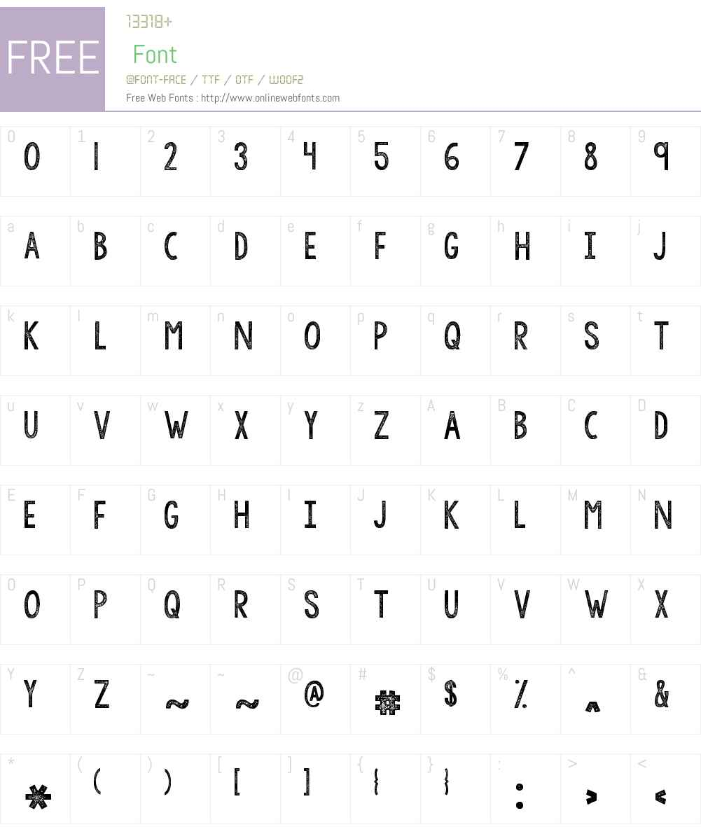 KGAllofMeW00-Regular Font Screenshots
