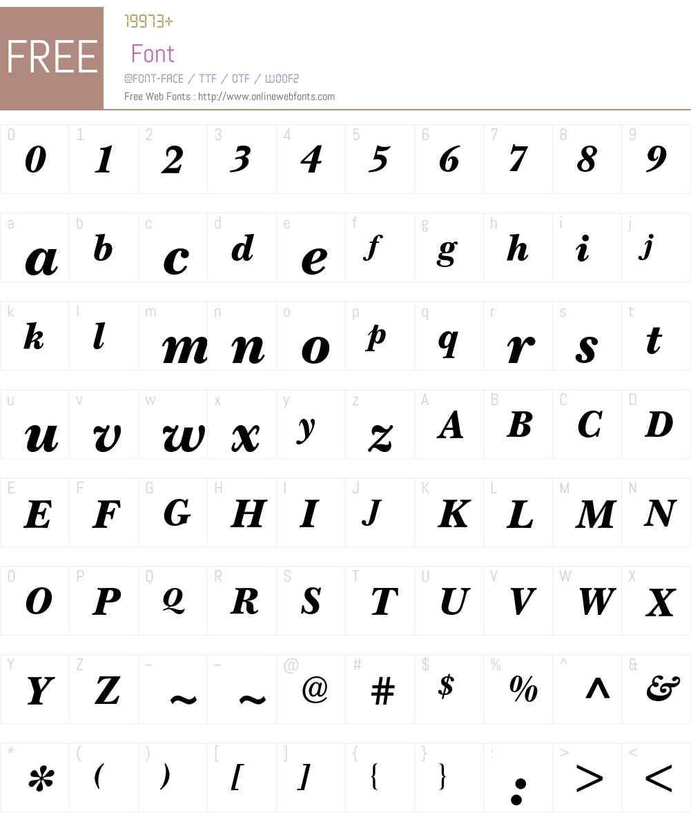 New Baskerville BQ Font Screenshots