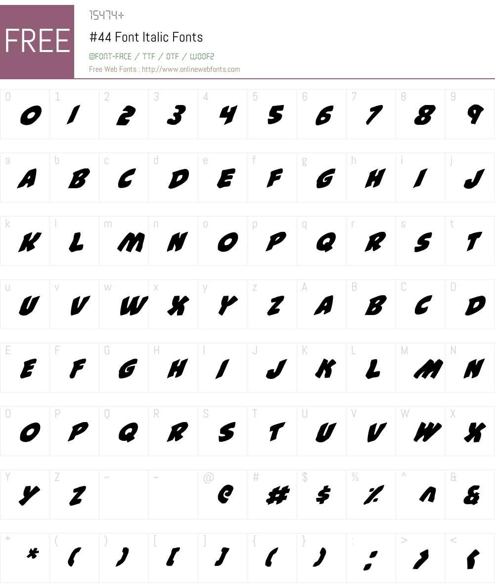 #44 Font Italic Font Screenshots