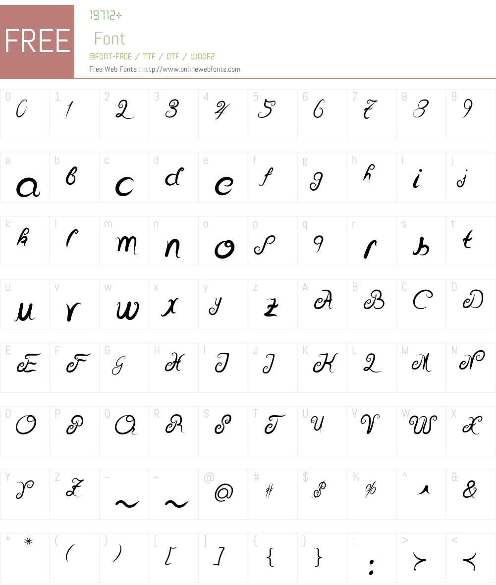 Delicious Curls Font Screenshots