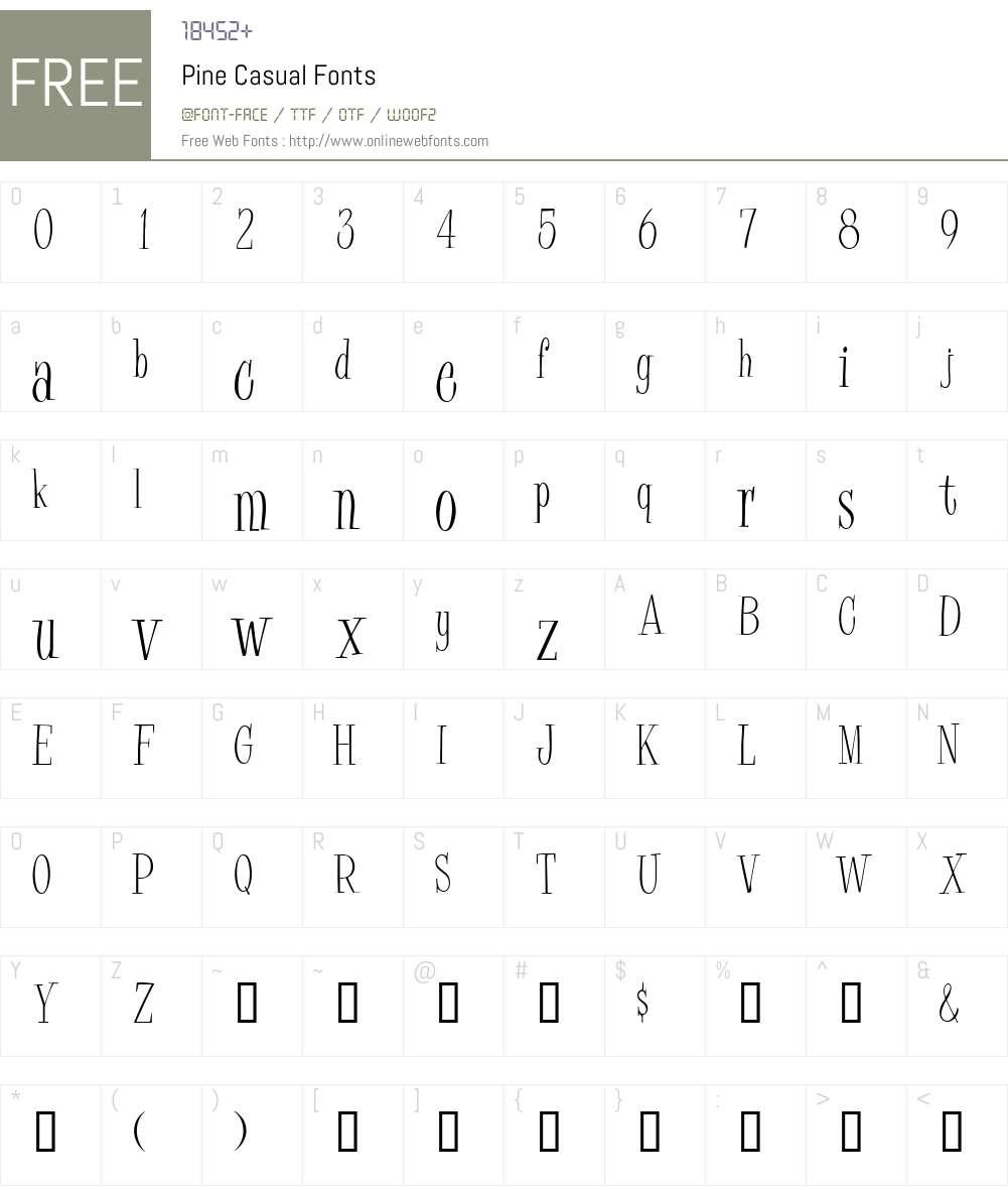 Pine Casual Font Screenshots