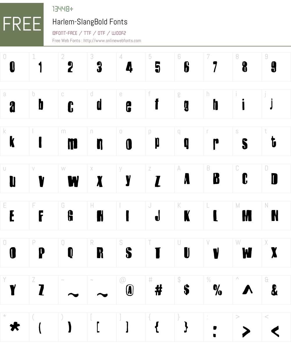 Harlem-SlangBold Font Screenshots