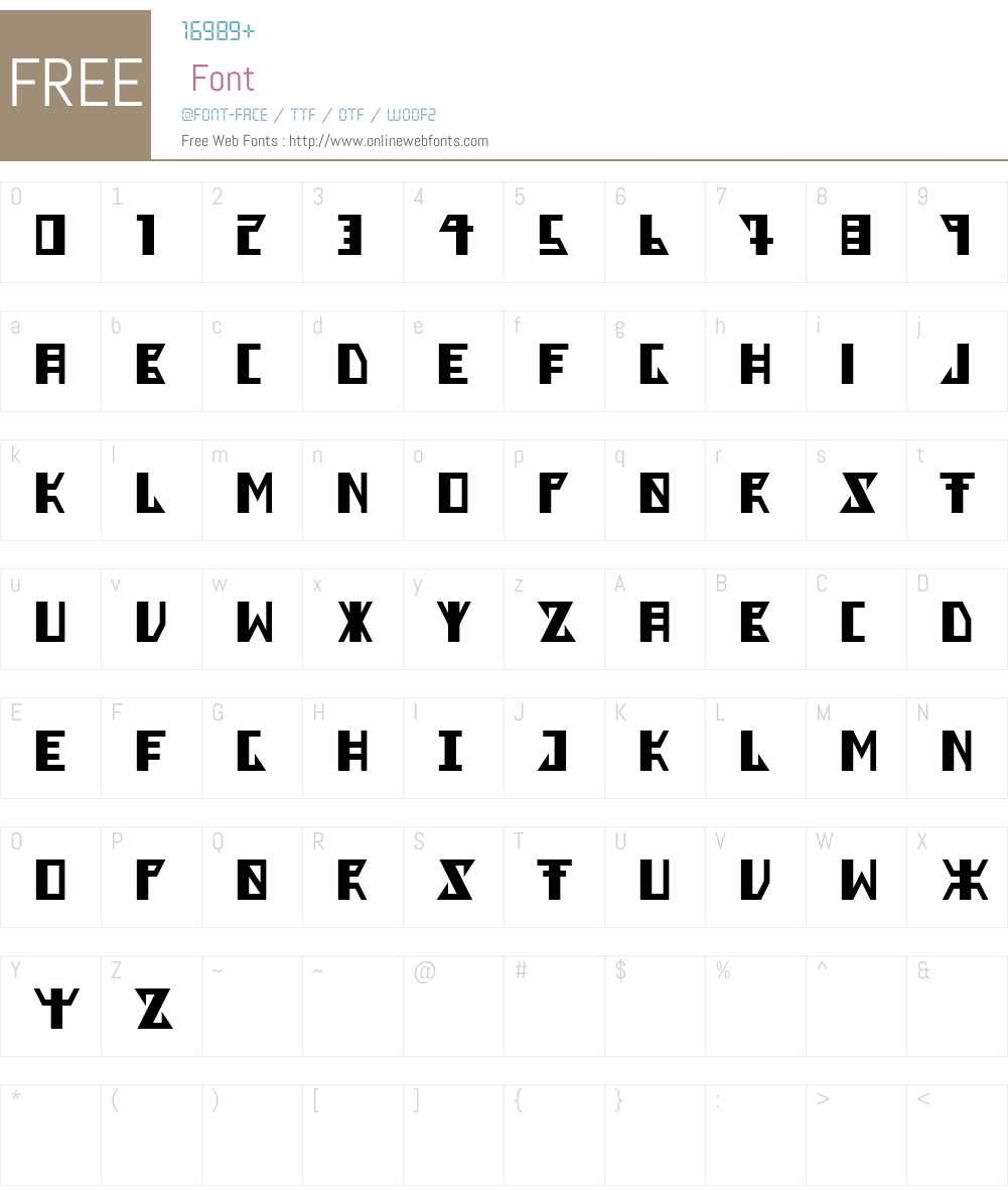 Berkel Font Screenshots