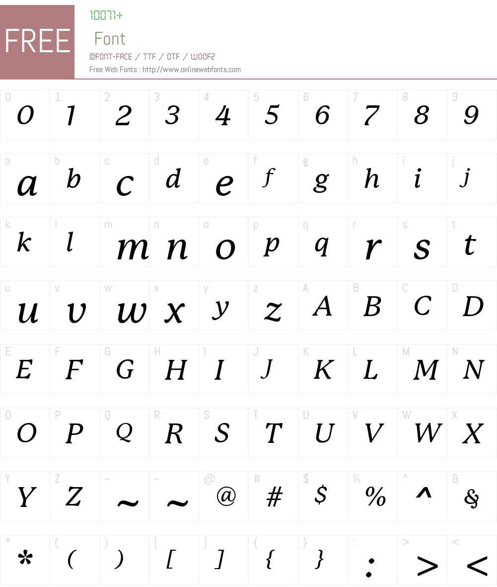 P22MackinacW01-MediumItalic Font Screenshots