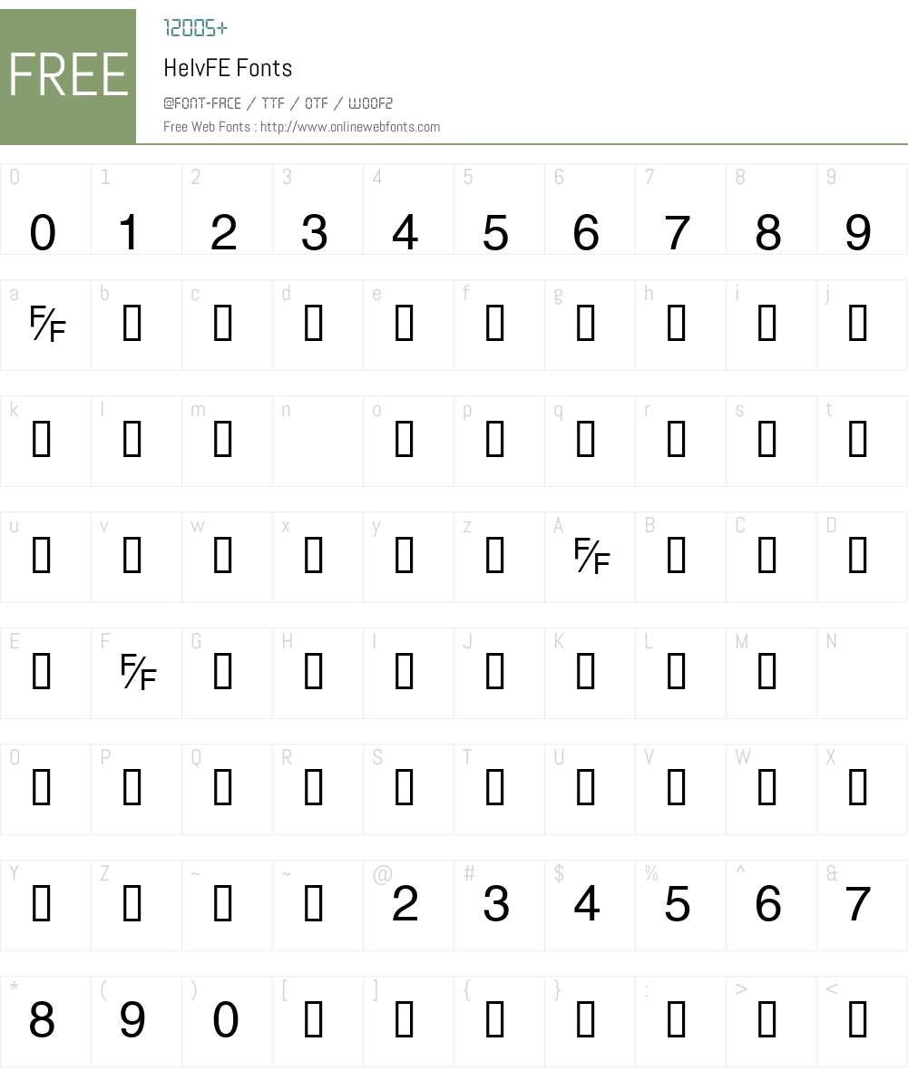 HelvFE Font Screenshots