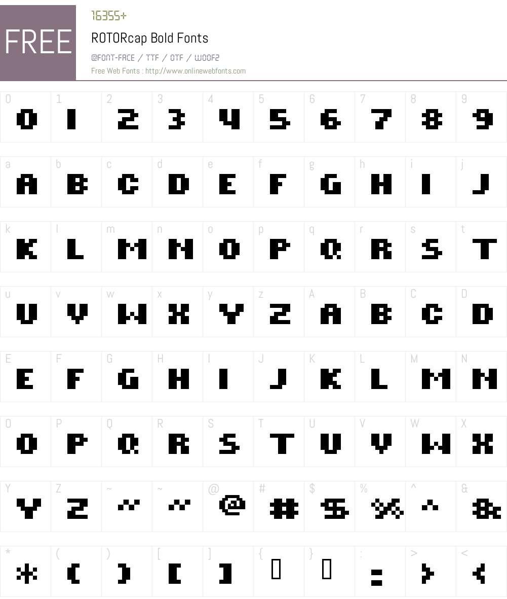 ROTORcap Bold Font Screenshots
