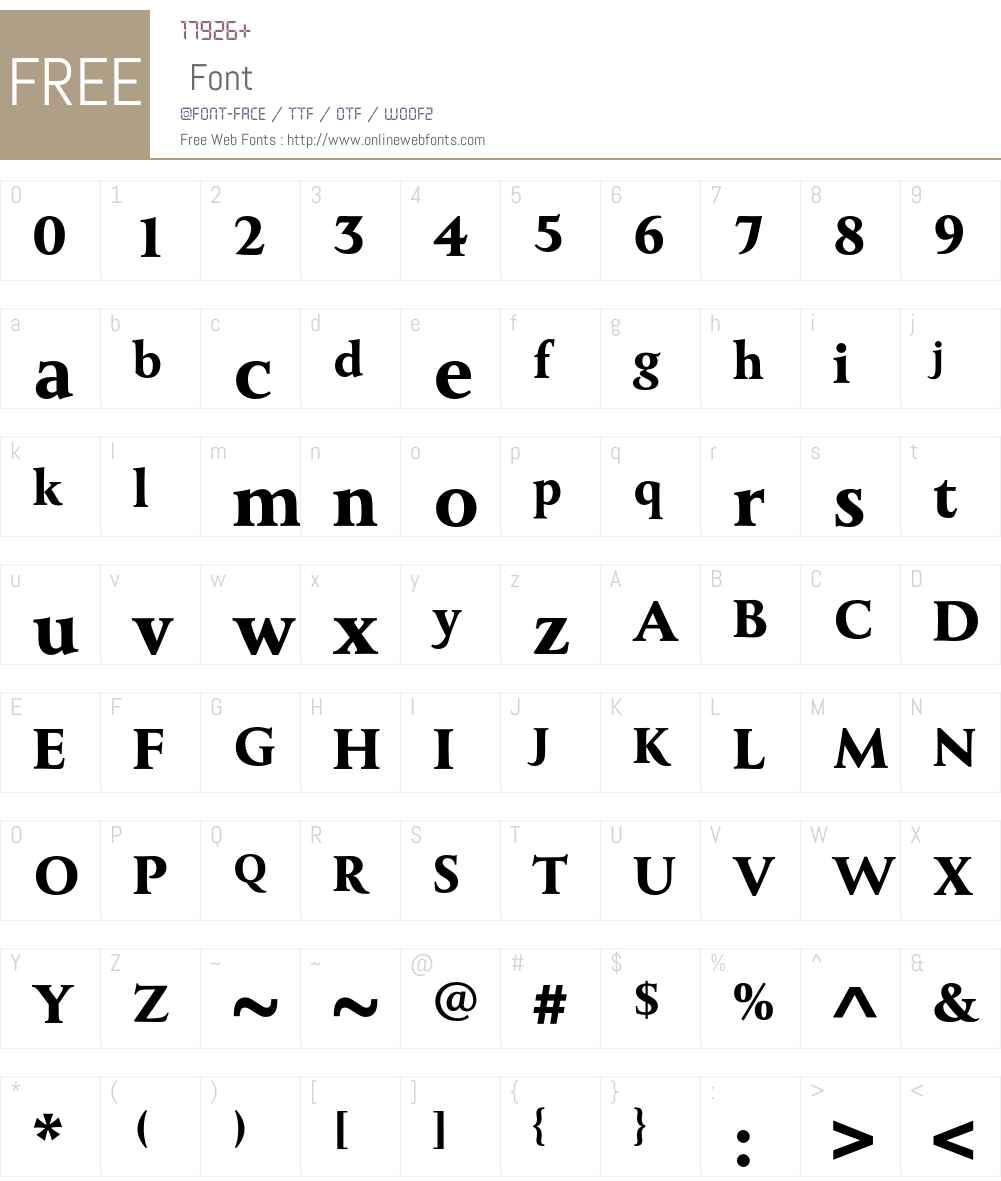 MonktonBold Font Screenshots
