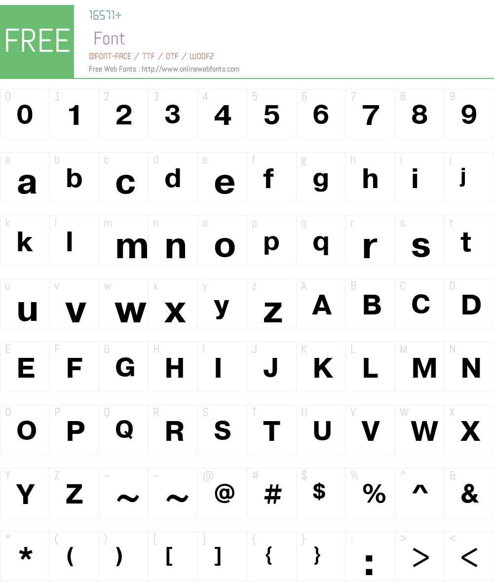 PragmaticaC Font Screenshots