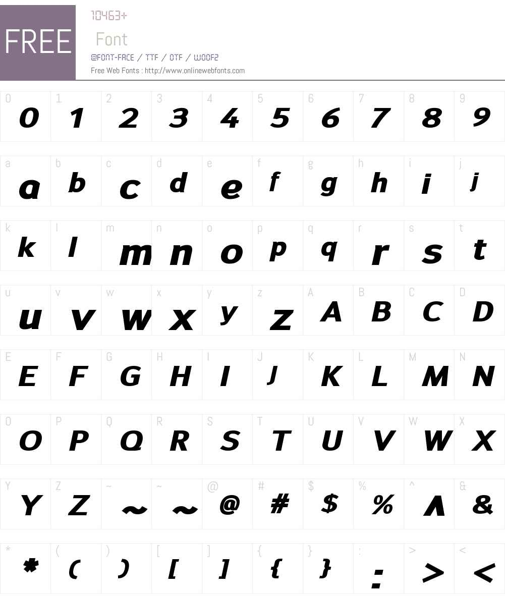 SavileW00-HeavyItalic Font Screenshots