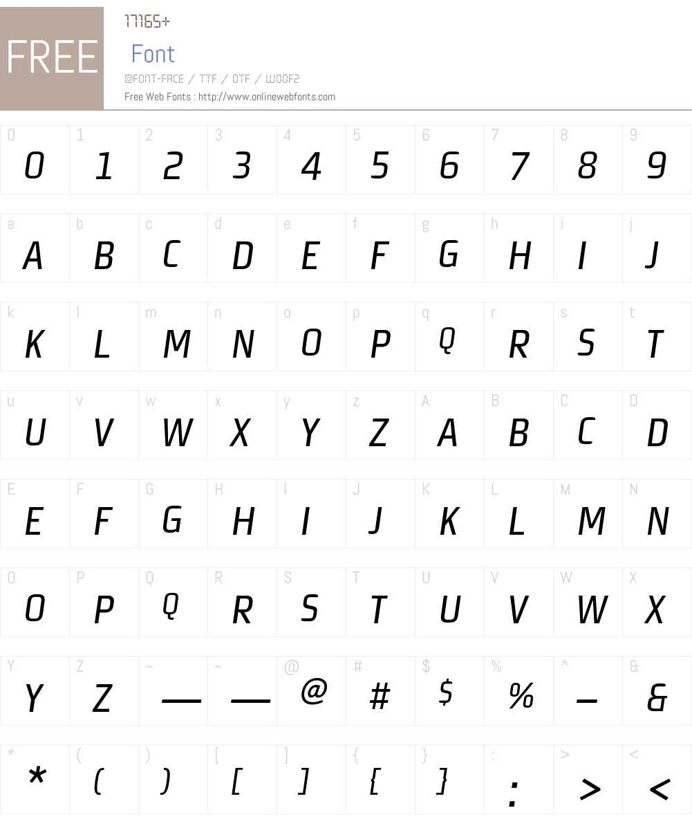 MorganSansCond Font Screenshots