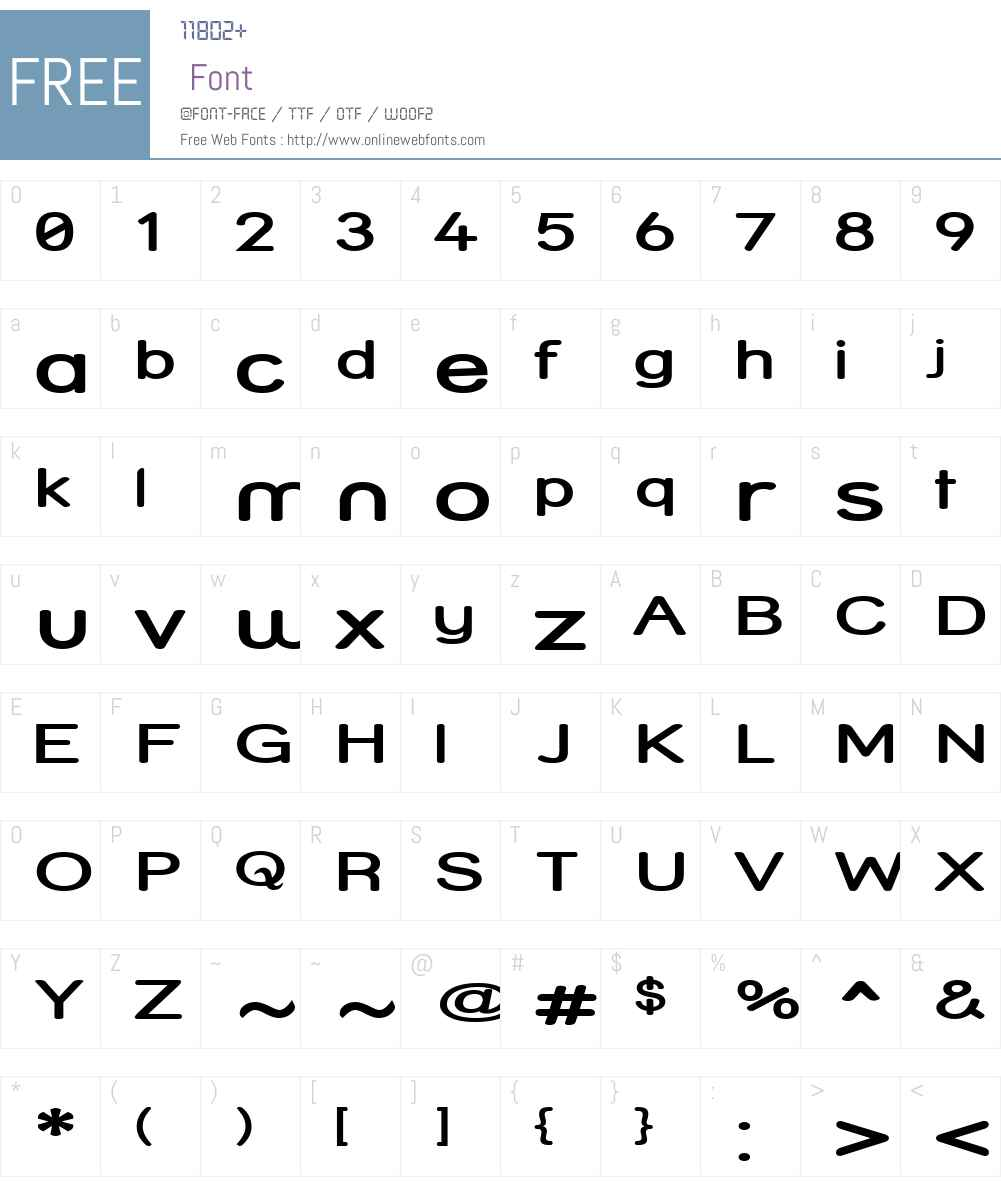 Street  SemiBold Expanded Font Screenshots
