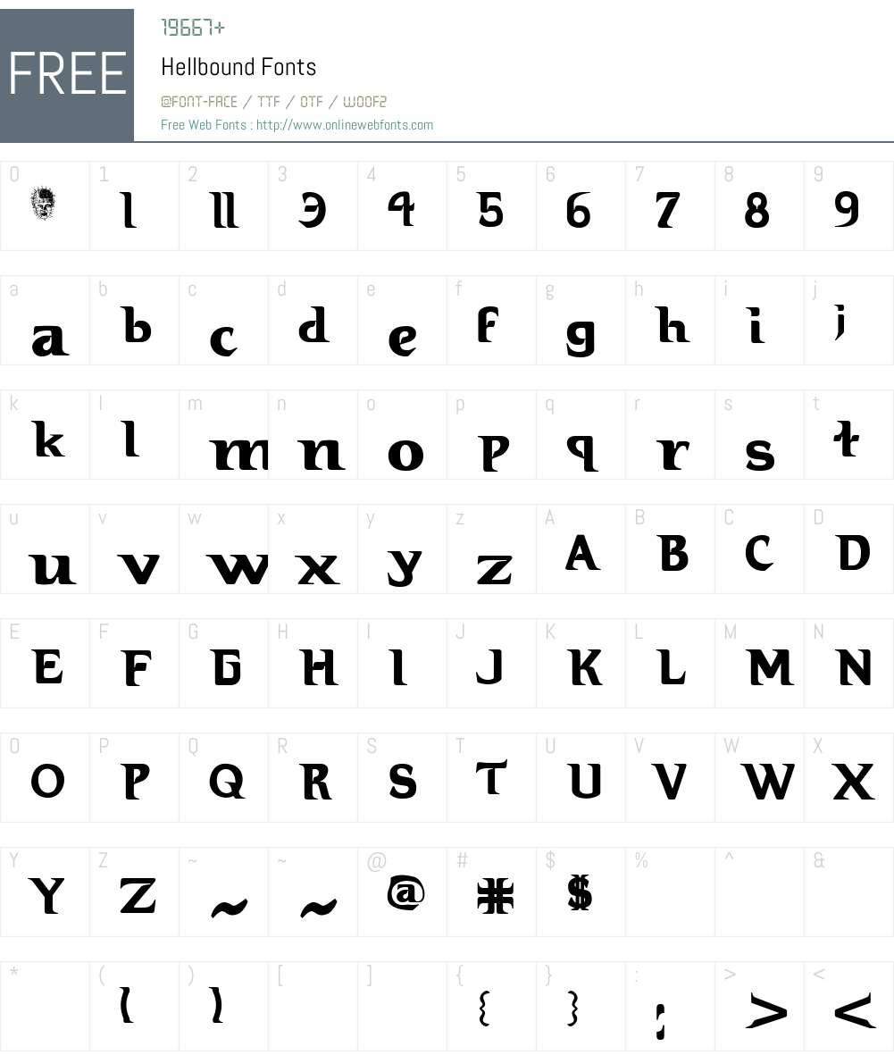 Hellbound Font Screenshots