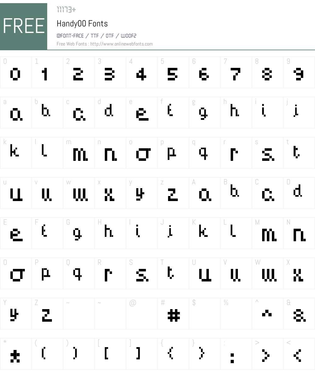 Handy00 Font Screenshots