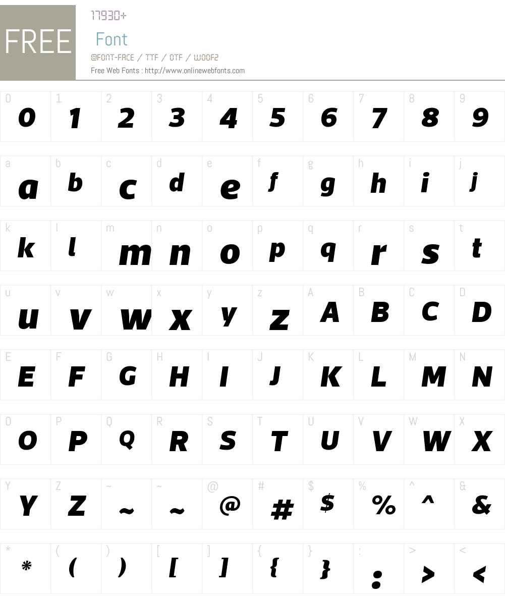 ActoW00-BlackItalic Font Screenshots