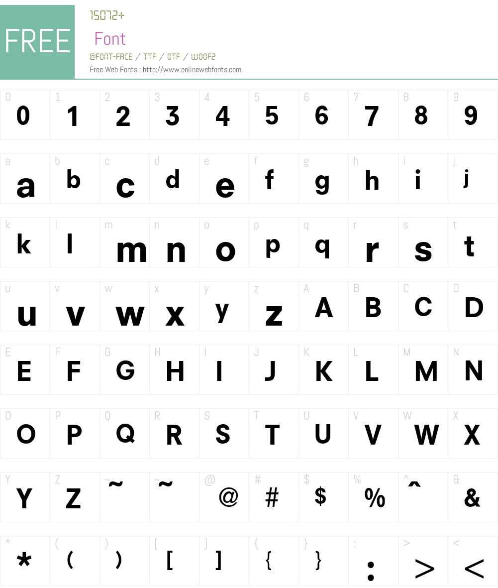 N692-Sans Font Screenshots