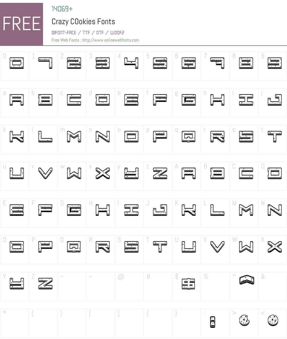Crazy COokies Font Screenshots