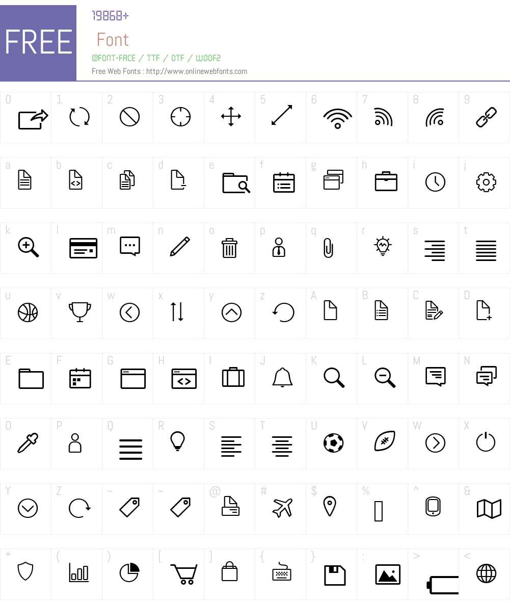 Icon-Works Font Screenshots
