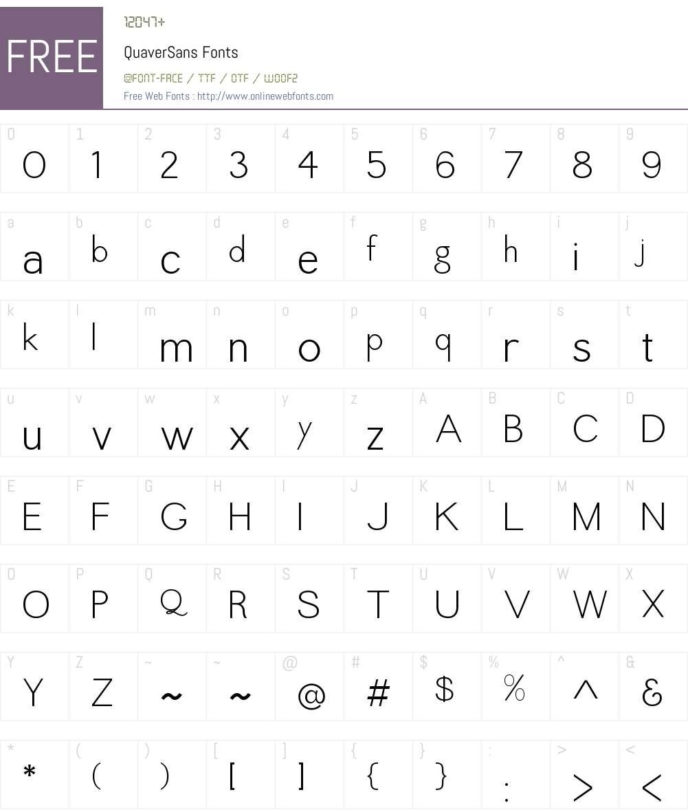 Quaver Sans Font Screenshots