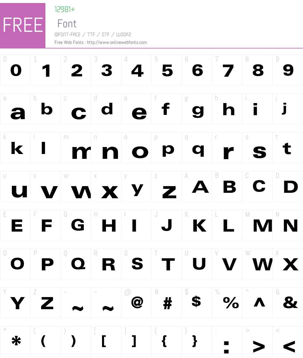 Univers Font Screenshots