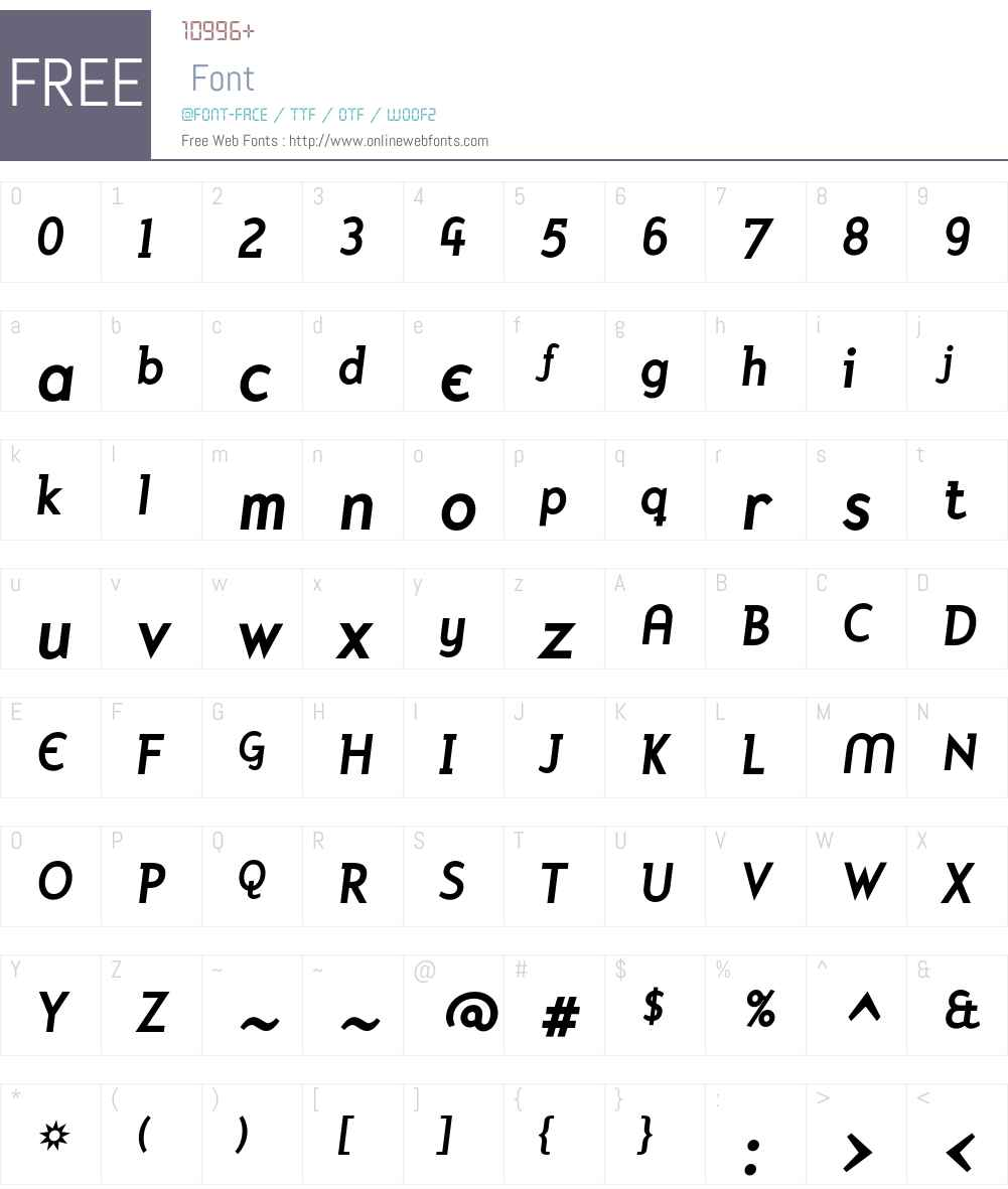 Mercury Font Screenshots