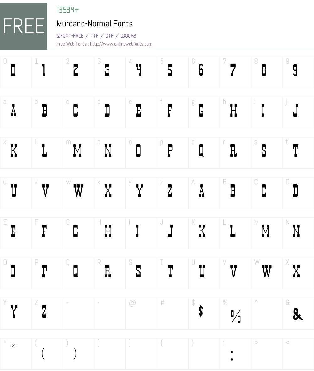 Murdano-Normal Font Screenshots