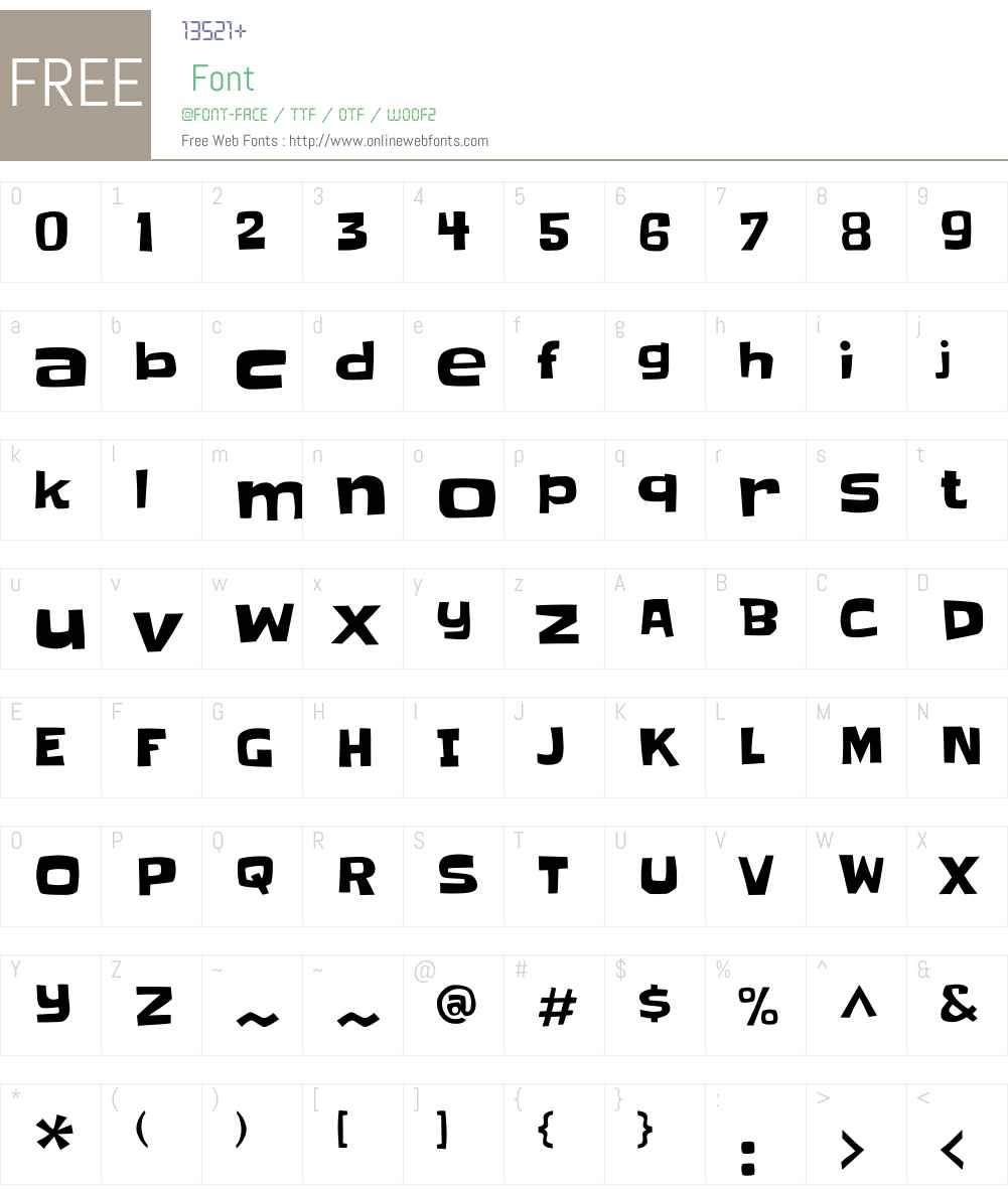 Slackey Font Screenshots