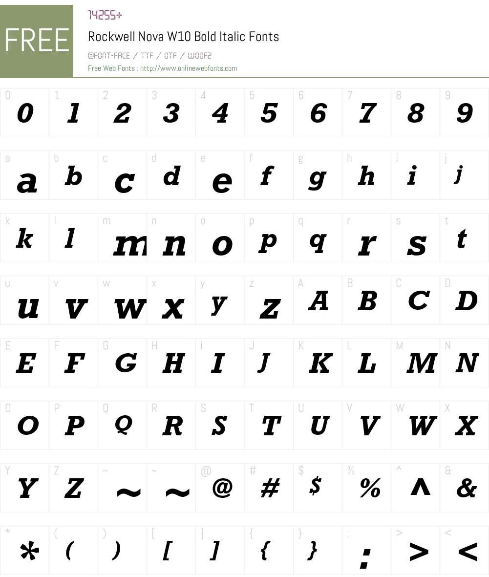 Rockwell Nova Font Screenshots