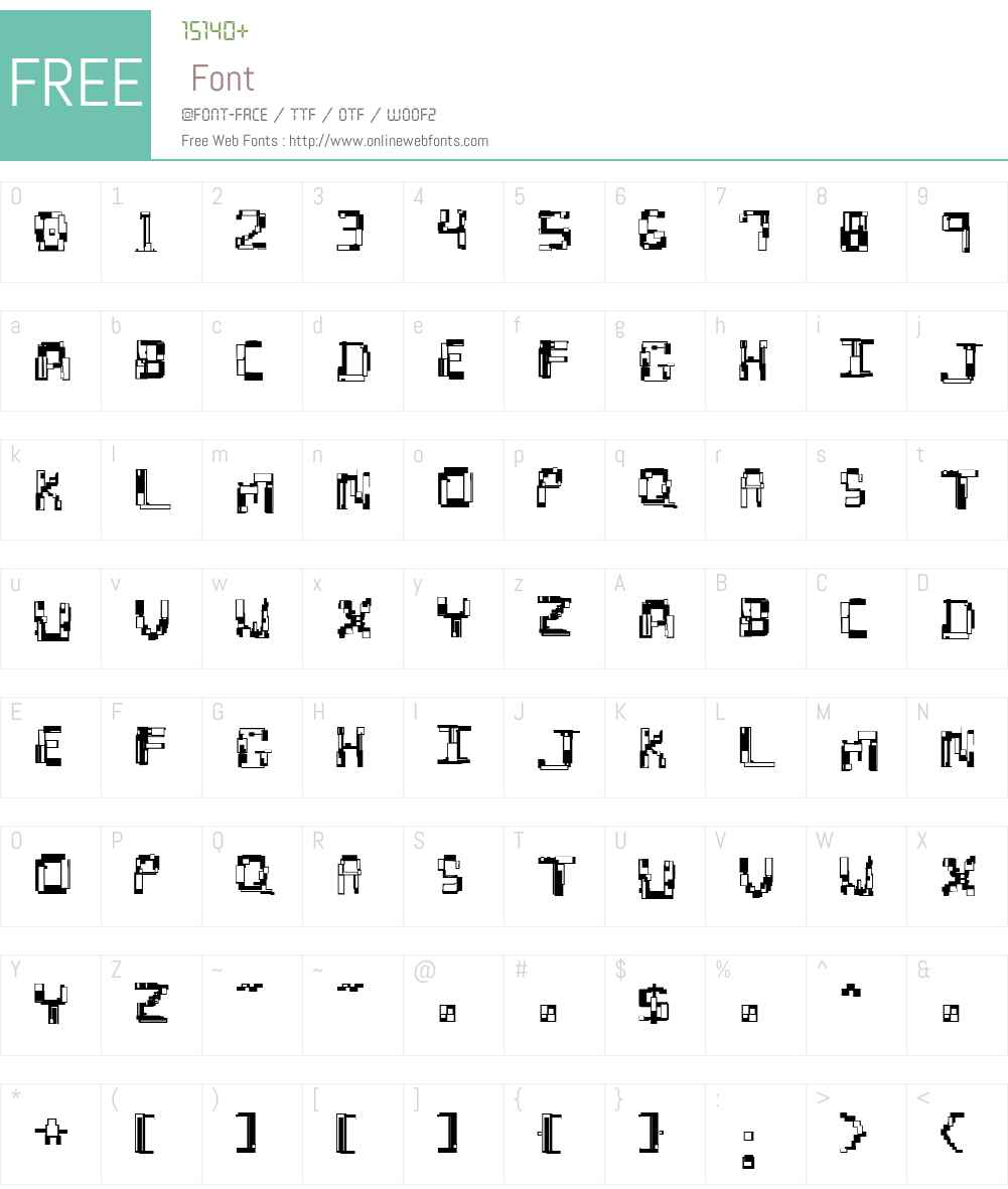 Hydrogen Font Screenshots