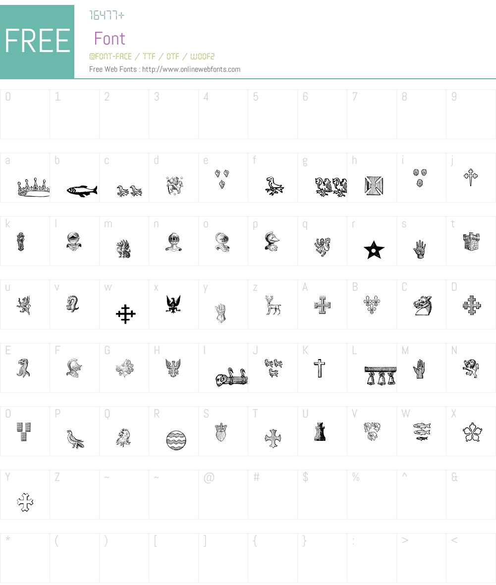 HeraldicDevices Font Screenshots