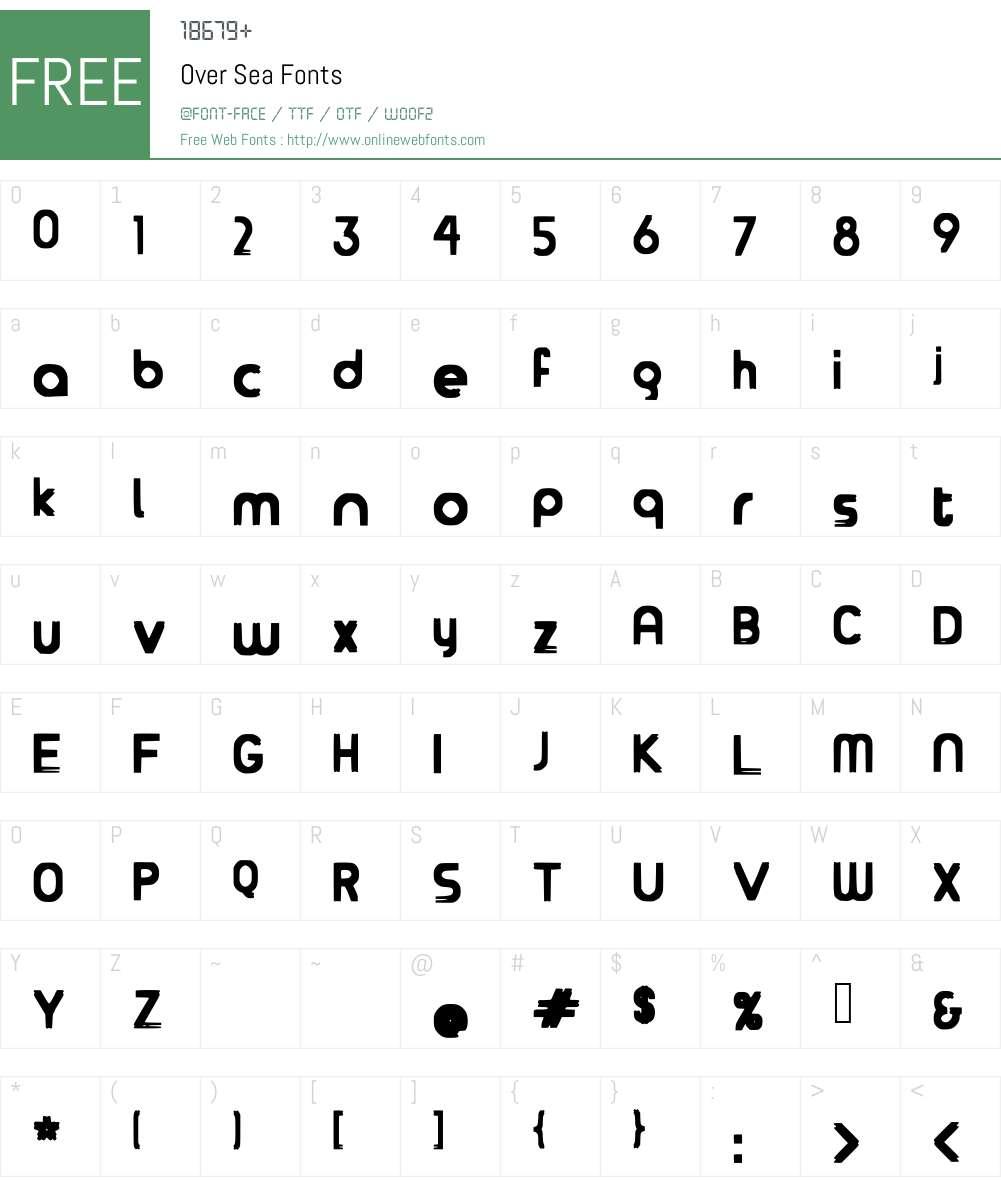 Over Sea Font Screenshots