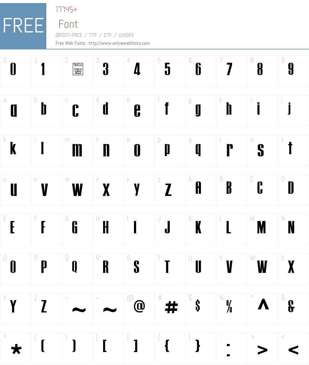 Tipo PRESS Font Screenshots