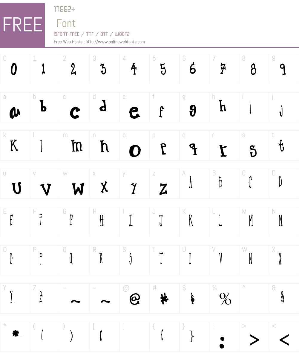 MACBETH Font Screenshots