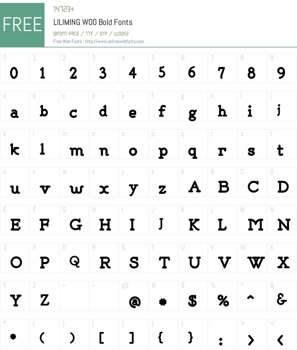 LILIMINGW00-Bold Font Screenshots