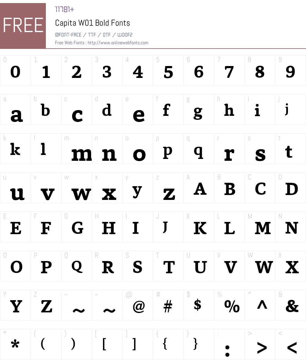 CapitaW01-Bold Font Screenshots