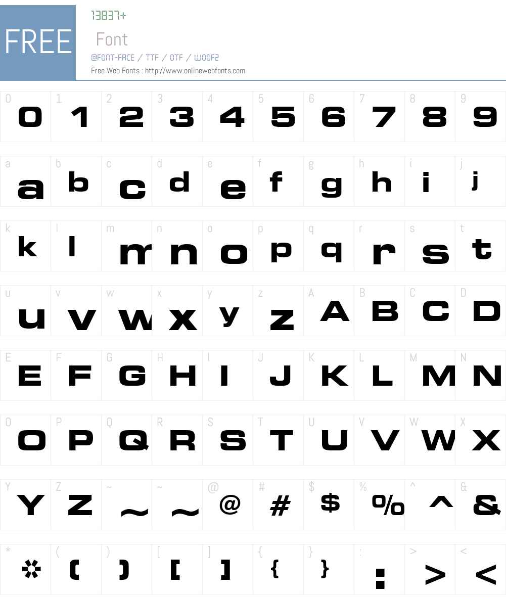 Square721 BdEx BT Font Screenshots
