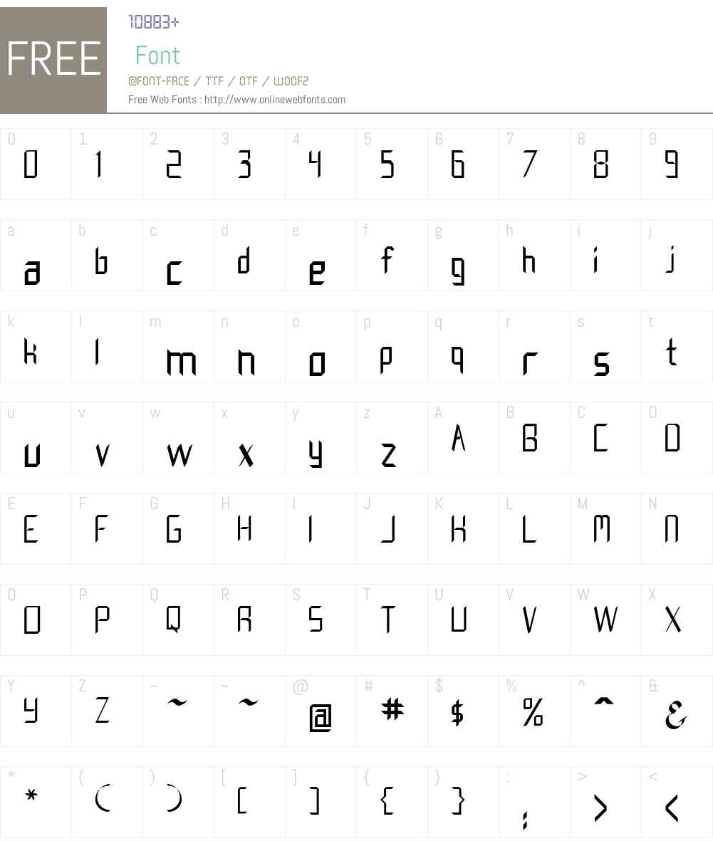 Creedmore Font Screenshots