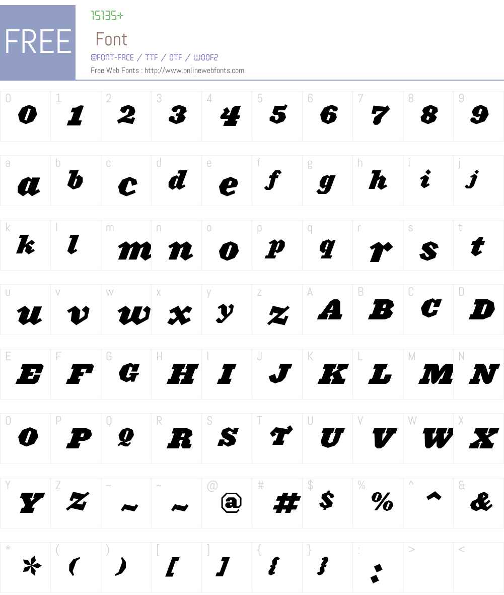 Acropolis Font Screenshots