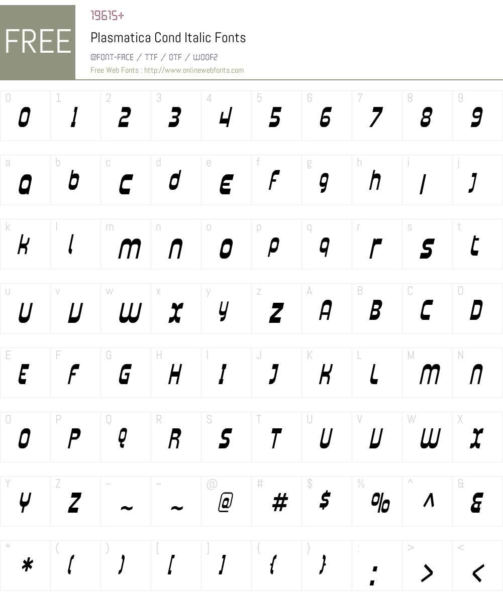 Plasmatica Cond Font Screenshots