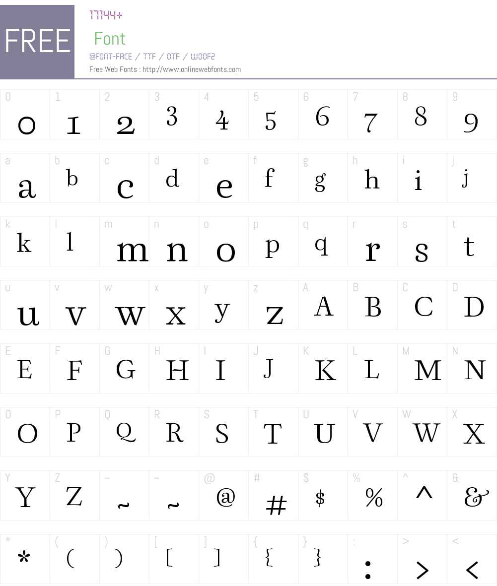 Berenjena Font Screenshots