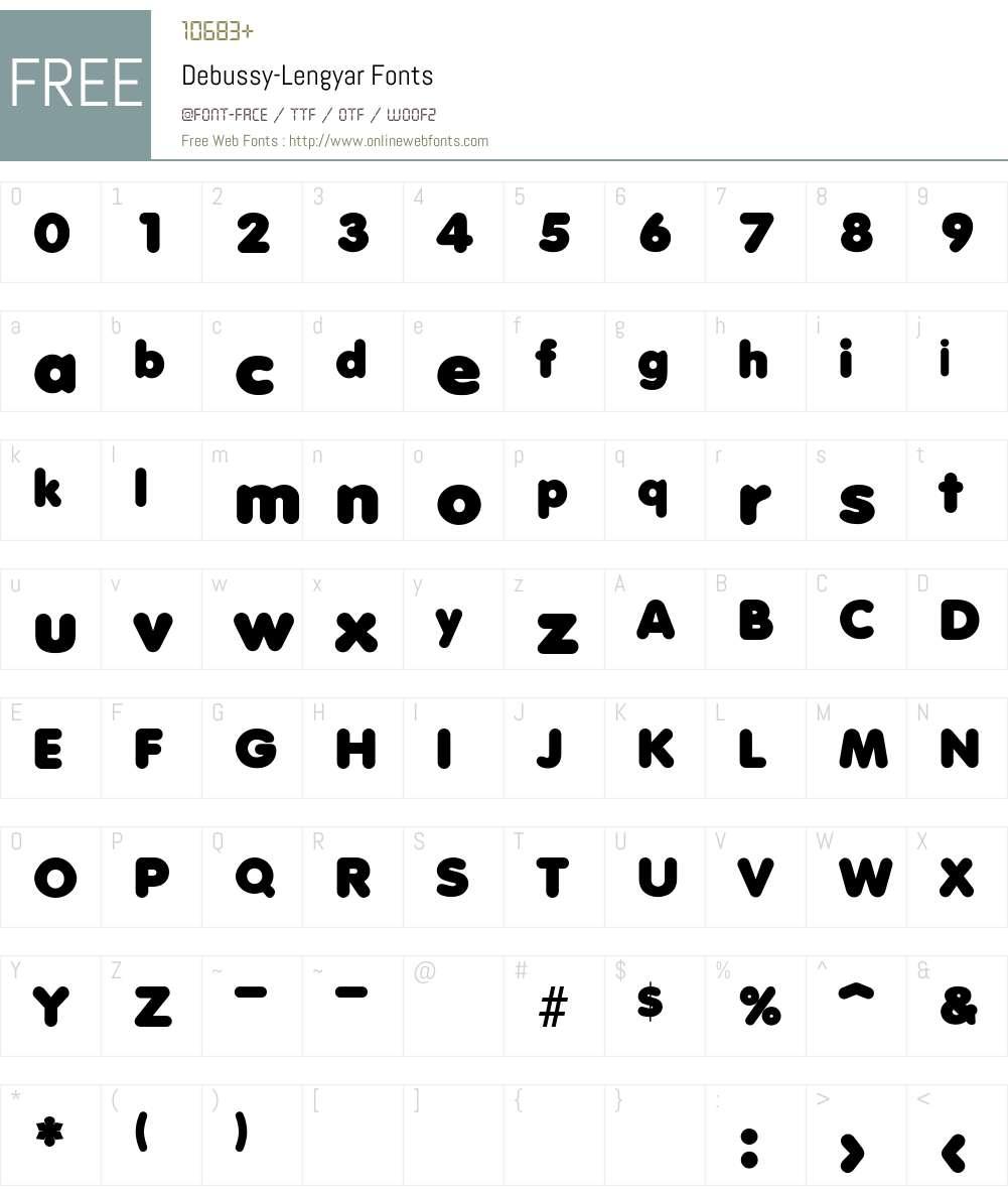 Debussy-Lengyar Font Screenshots
