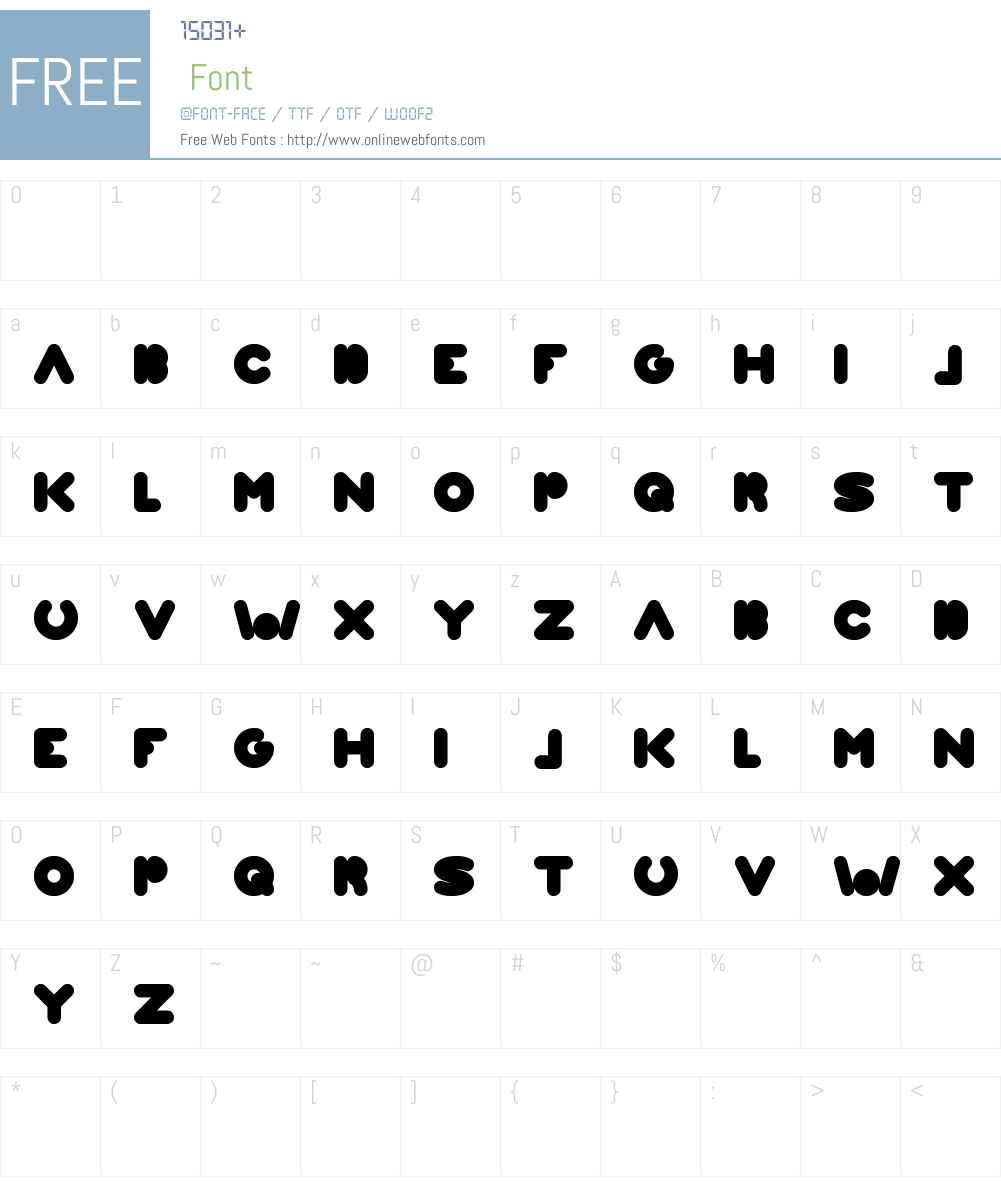 WEKNOW WORLD Font Screenshots