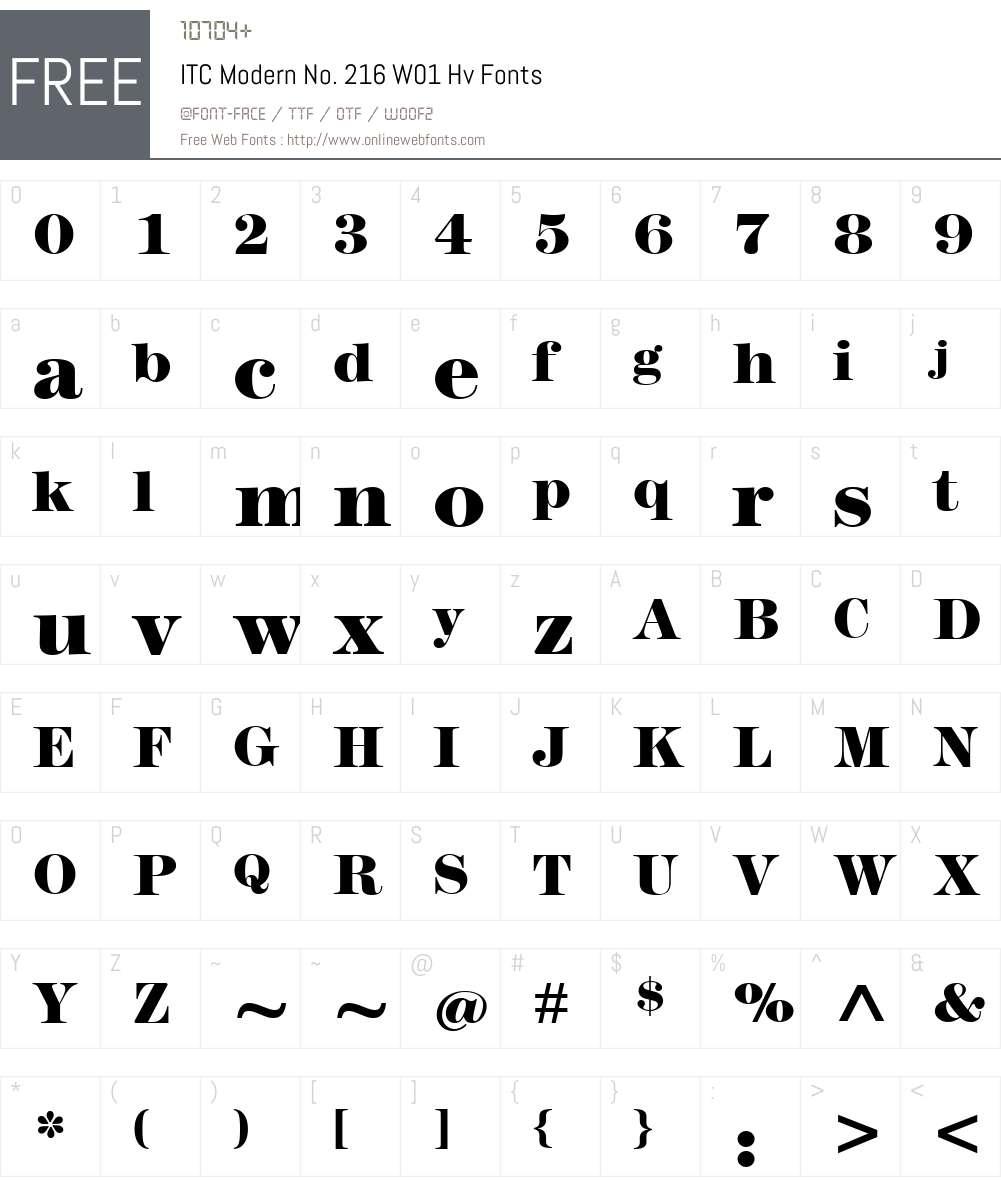 ITCModernNo.216W01-Hv Font Screenshots