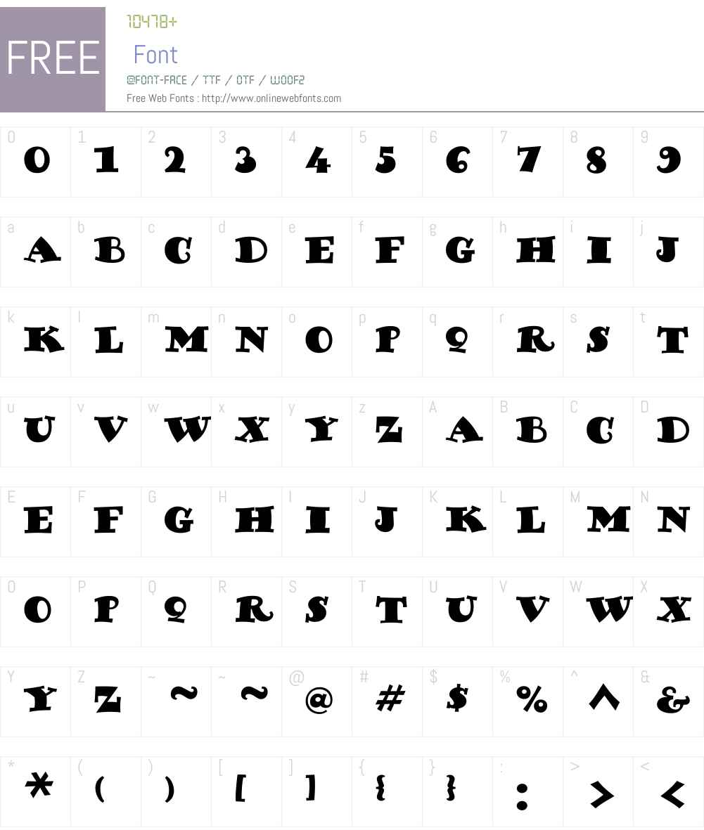 PosterPaintW00-Regular Font Screenshots